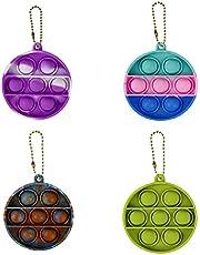 2/4/8/16 Pcs Mini pop Keychain Pack Cheap Sensory Fidget Toy Stress Relief Sensory Toy