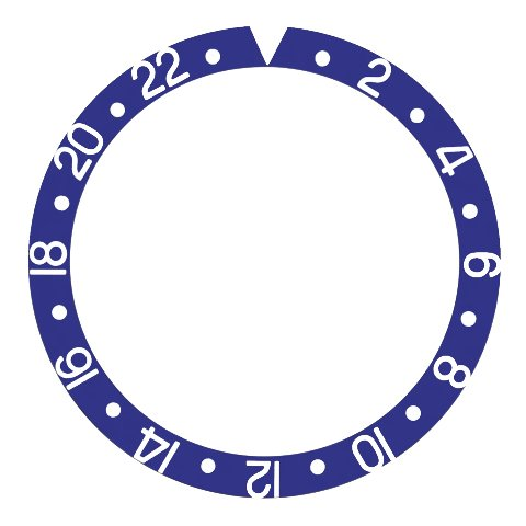 ベゼル挿入アルミニウムfor Rolex GMTマスター1675 I、16750、16753ブルーパーツ  B07D6TZ87Q
