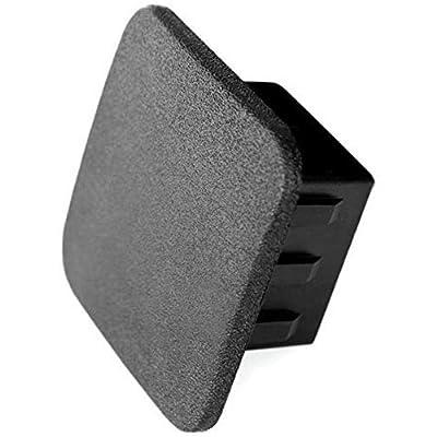 """LFPartS 2.5"""" Heavy Duty 2 1/2"""" Trailer Hitch Cover Cap Plug Plain Black, Fits 2.5"""" Receivers: Automotive"""
