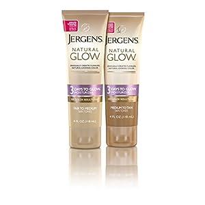 Jergens Natural Glow 3 Days to Glow Moisturizer for Body, Medium to Tan Skin Tones, 4 Ounces