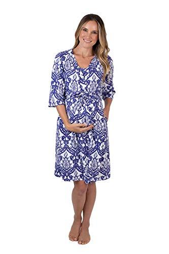 (Baby Be Mine Maternity/Nursing Robe (S/M pre Pregnancy 4-10, Brie))