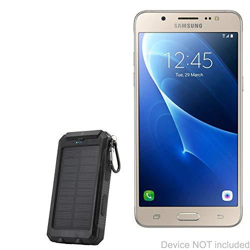 BoxWave Samsung Galaxy J5 Battery, [Solar Rejuva PowerPack (6000mAh)] Solar Powered Backup Power Bank for Samsung Galaxy J5 - Jet Black