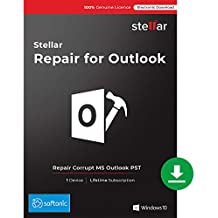 Stellar Repair for Outlook Software | Professional | Repair Corrupt PST Files, Recover Deleted Emails | 1 Device, Lifetime Licence | Instant Download (Email Delivery)