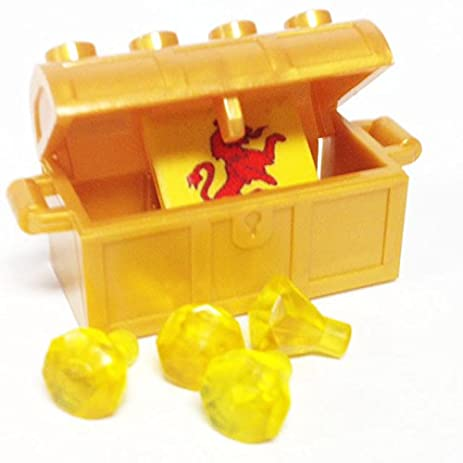 Amazon.com: Lego Parts: Treasure Chest/Jewel Pack Bundle (4) 24 ...