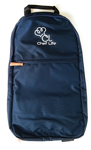 Premium Elite Ergonomic Chef Knife Backpack Roll Bag Case - 17 Pockets - Water Resistant Military Grade Ballistic Nylon - Varying Colors ()