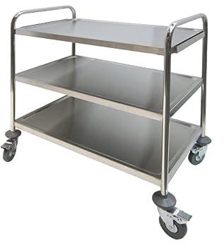 Amazon.com - GSW Stainless Steel Economic Duty Food Cart, 20 ...