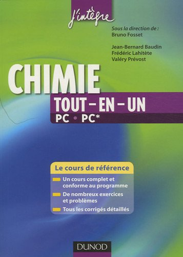 t l charger chimie tout en un pc pc le cours de r f rence pdf jean bernard baudin fr d ric. Black Bedroom Furniture Sets. Home Design Ideas
