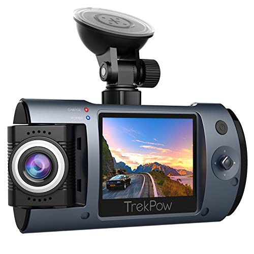 Dash Cam, Trekpow 1080P Car DVR Camera for Cars with 180° Rotatable Lens, Full HD 2