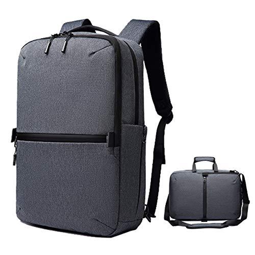 Convertible Laptop Backpack, Multi-Functional Messenger Bag Briefcase, Water Resistant Shoulder Bag Handbag, Slim Business Laptop Computer Bag for Men & Women Fits 17 Inch Laptop and Notebook
