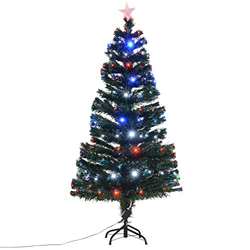 5' Artificial Holiday Fiber Optic / LED Light Up Christmas...
