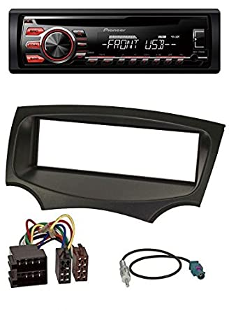 Pioneer Cd Mp Usb Car Stereo Aux For Ford Ka  Onwards Black Amazon Co Uk Electronics