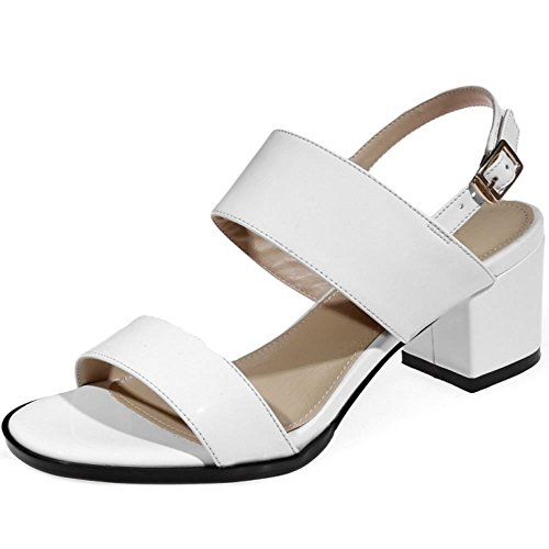 Zanpa Mode Donna Slingback White Sandali SSFf4TW