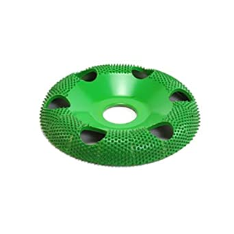 """4"""" Donut Wheel W/ Holes Round Face (Coarse Grit) 7/8"""" Bore"""