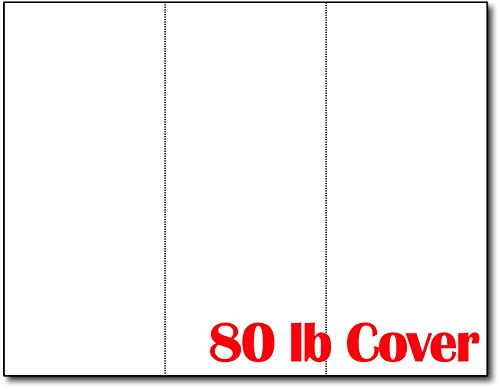 3up 80lb White Menu Cards / Connection Cards / Rack Cards - 25 Sheets / 75 Pieces