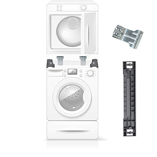 The Exact Stacking Kit for Samsung 27'' SKK-7A - Compatible With All Samsung 27 Inch Front Load Washer and Dryers (Large Stackable Washer And Dryer)