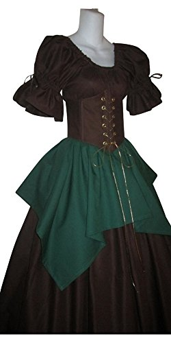 Woodland Nymph Elf Medieval Cincher Set (xx-Large) (Woodland Fairy Costumes For Adults)