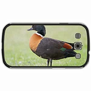 New Style Customized Back Cover Case For Samsung Galaxy S3 Hardshell Case, Black Back Cover Design Australian Shelduck Personalized Unique Case For Samsung S3