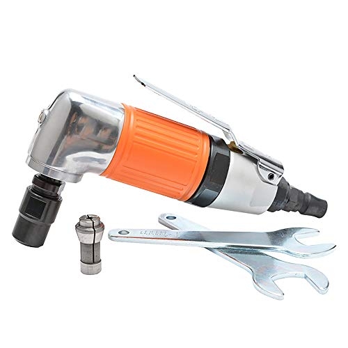 (Pneumatic Grinding Machine Polishing Tool Polishing Machine/Sandpaper Machine Cleaning Finishing, Car Maintenance, Removing Rust, Burrs,22000rpm,Orange)