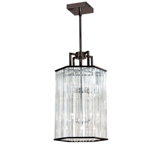 - Dainolite Lighting ARU-206C-VOB 6-Light Crystal Foyer Lantern, 10