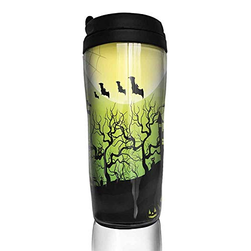 coffee cups for mom Halloween night background with
