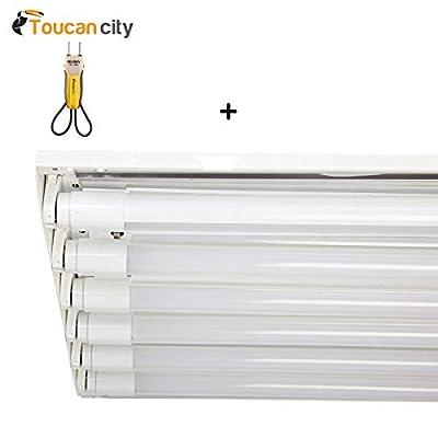Toucan City Voltage Tester and EnviroLite 4 ft. 6-Light T8 White LED High Bay Light with 1800 Lumens LED Tubes 5000K HBA6T1850