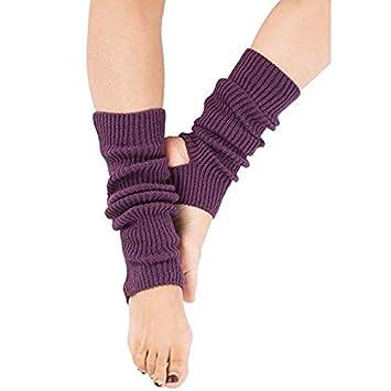Zomiee - Calcetines de Yoga para Mujer y niña, Calcetines de Entrenamiento sin Dedos, Morado: Amazon.es: Deportes y aire libre