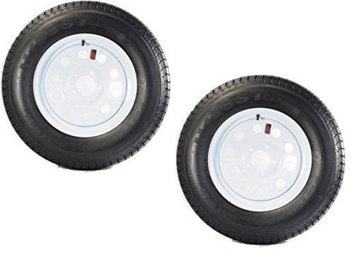 2-Pk eCustomrim Trailer Tire & Rim ST205/75D15 15'' Load D 5 Lug White Mod 58533 by eCustomRim (Image #3)