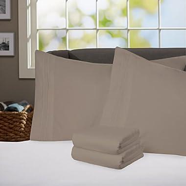 Sweet Home Collection Supreme 1800 Series 4pc Bed Sheet Set Egyptian Quality Deep Pocket - King, Sage