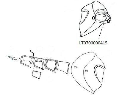 ESAB 0700000415 Head Gear fü r Warrior Tech Helm ESAB Group (UK) Ltd