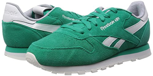 Green Turchese Sneakers Cl glass chalk Da Reebok Leather Suede Donna Sanqf
