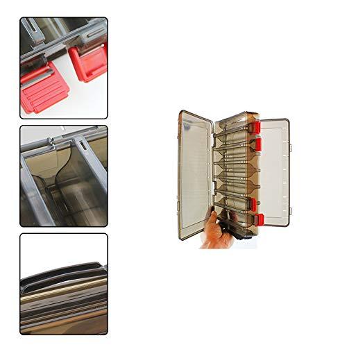 Demarkt wasserdichte K/öderbox f/ür Spoons Spinner Blinker und Fliegen Wasserdicht Passt in Jede Jacke Oder Tasche Professionelle Angel Zubeh/ör Aufbewahrungsbox