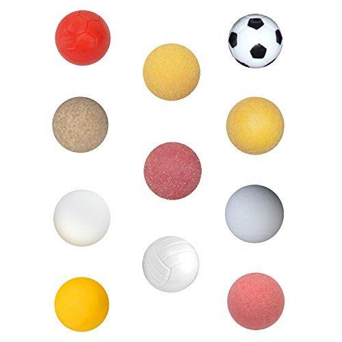 Tornado 11 Assorted Foos Balls w/Foosball Selection Report