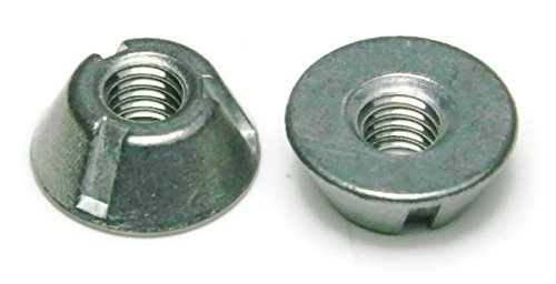 Tri-Groove Tamper Proof Security Nuts Zamak 5 Zinc 1/4''-20 - QTY 25