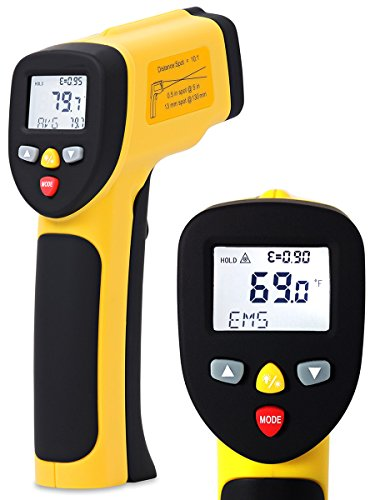 Temperature Gun ennoLogic Dual Laser Non-Contact Infrared Thermometer -58°F to 1202°F - NIST Option Available - Accurate Digital Surface IR Thermometer eT650D by ennoLogic