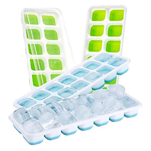 Bandejas para cubitos de hielo – 4 unidades de bandeja para ...