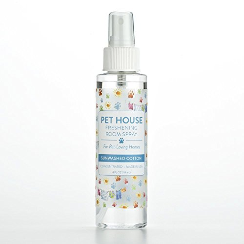 Pet House Pet Friendly Freshening Room Spray  Sunwashed Cotton - Concentrated Air Freshening Spray Neutralizes Pet Odor - Non-Toxic & Allergen Free Air Freshener  Effective, Fast-Acting  4 oz