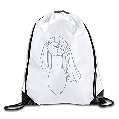 HROSE Unisex Drawstring Bags Muhammad Ali Training Gymsack, Ideal For Gym And Sports Workout