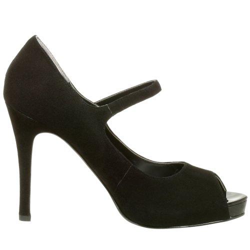 NINE WEST - Zapatos De Tacón Mujer - Pump Punta Abierta NWLUMINOUS BLACK BLK Tacón: 11 cm