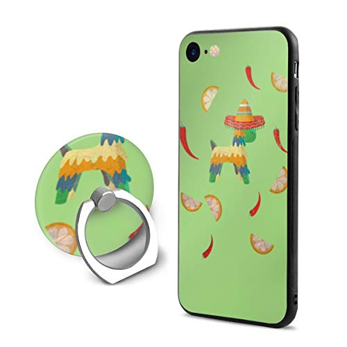 Mexican Chili Dog iPhone 7/8 Case with 360 Rotating Ring Holder Slim Fit Hard PC Protective Shock-Absorption Anti-Scratch Case Back Cover for iPhone -