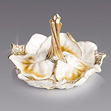 (Jay Strongwater Scarlett Leaf Ring Dish SDH8856-232 Golden Finish )
