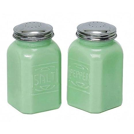 green Vintage salt pepper