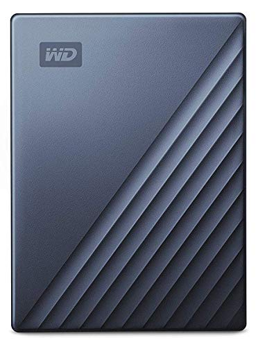 9993888cb469 WD 2TB My Passport Ultra Blue Portable External Hard Drive, USB-C -  WDBC3C0020BBL-WESN