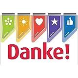 5 farbige Dankeschön Wingclips - Kleiner Dank Paperclips - Kleines Geschenk Büroklammern (Markclips)