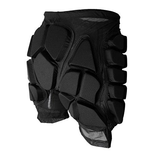 MonkeyJack Skiing Skating Snowboard Winter Sport Protective Gear Hip Padded Shorts for Kids Men Women - Black, XXXL