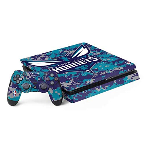 Skinit Charlotte Hornets Digi Camo PS4 Slim Bundle Skin - Gaming Decal - Ultra Thin, Lightweight Vinyl Decal Protection