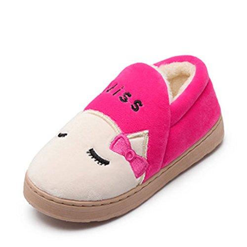 Chaussons Dww Pur Coton Dames Pantoufles Anti-dérapant Étage Hiver Maison Chaussures D'intérieur Chaud A