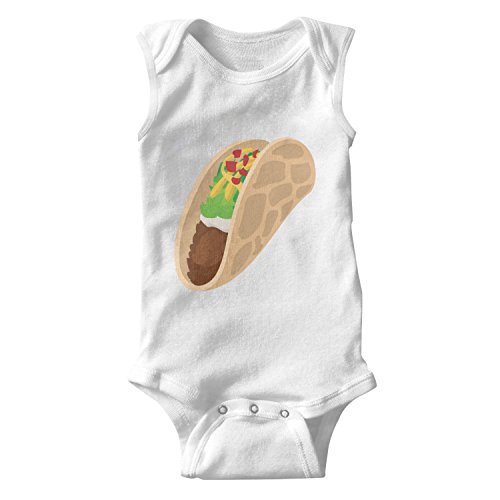 lsawdas Tortilla Wrap with Meat and Vegetables Unisex Baby Cotton Sleeveless Toddler Clothes Baby Onesies White