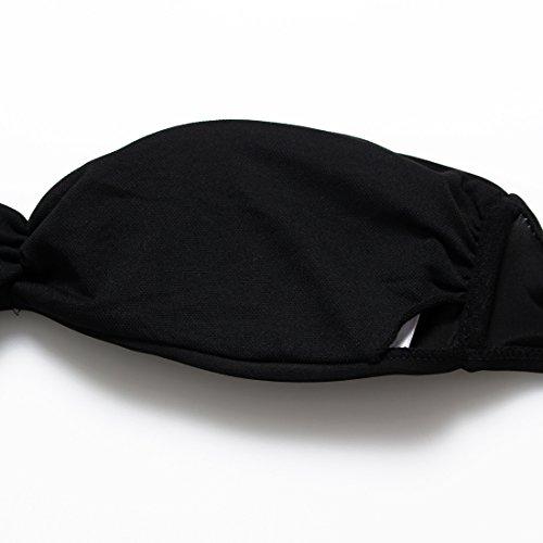 LD@Butyl Tube Top fluoreszierende Farbe Hose Strap Damen schwarz Bikini Bademode