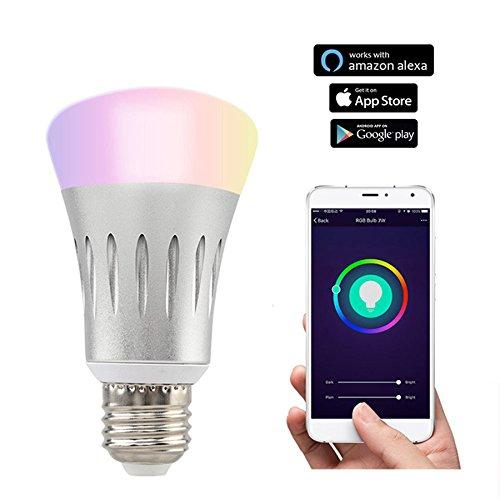 ボンド7 WスマートWiFi LED電球e27 RGB + WカラフルなLEDライトサポートiOS/Android Appマジックランプギフト B078NR3LL9