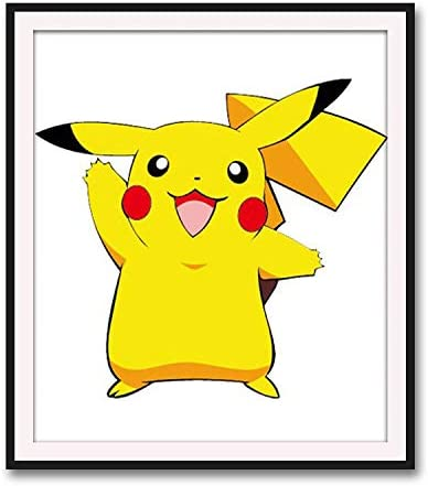 hilo de algod/ón ecol/ógico 35X40CM Punto de cruz Diamante Pintura Dibujos Animados Anime Pikachu Dormitorio Ni/ños Pintura Decorativa Pegatinas Diamante Pintura